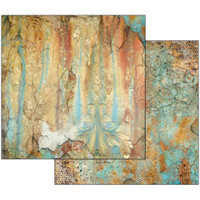 Stamperia - Double sided 12x12 Paper - Time Is An Illusion - Rust Effect  SBB521