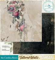 Blue Fern Studios - Tattered Walls 12x12 dbl sided paper - The Carolina Room