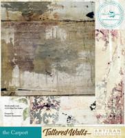 Blue Fern Studios - Tattered Walls 12x12 dbl sided paper - The Carport (62847783)