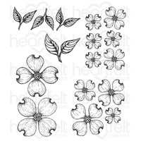 Heartfelt Creations Cling Rubber Stamp Set - Flowering Dogwood (HCPC3773)