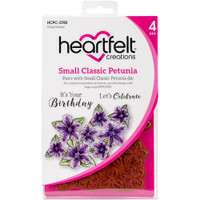 Heartfelt Creations Cling Rubber Stamp Set - Small Classic Petunia (HCPC3785)