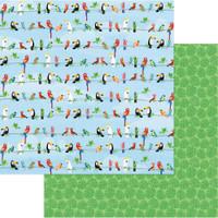 Photoplay - 12x12 scrapbook paper - Aloha - Parrot Bay (PPAL 8940)