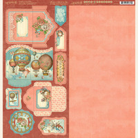"""Graphic 45 - Tags & Pockets Cardstock Die-Cuts 6""""X12"""" Sheets 2/Pkg - Imagine G4501720"""