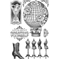 Imagine - Create Yourself - Graphic 45 Clear Acrylic Stamps (G4501707)