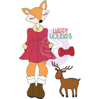 Prima - Julie Nutting - Christmas Stamps - Foxy (912352)