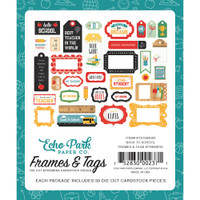 Echo Park Back To School - Frames & Tags Cardstock Die-Cuts (BTS1560 25