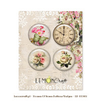 LemonCraft - House of Roses - Flair Embellishments self-adhesive decorative buttons LB-HOR01