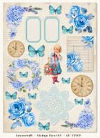 LemonCraft - Gossamer Blue- Decorative paper - Cut-apart Icons & Images - Vintage Time 007