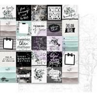 Prima - 6 sheets Double sided 12x12 Paper w/Foil Accents - Flirty Fleur