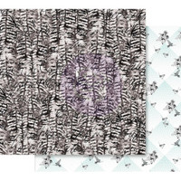 Prima - Double sided 12x12 Scrapbook Paper w/Foil Accents - Flirty Fleur - Birds Of A Feather 848286
