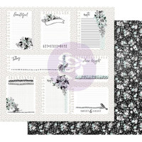 Prima - Double sided 12x12 Scrapbook Paper w/Foil Accents - Flirty Fleur - Little Notes 848293