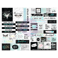Prima - Words & Quotes W/Foil Accents Stickers - Flirty Fleur 597658
