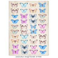 Lemon Craft - Lullaby - Decorative paper - Cut-apart Butterfly Images - Vintage Time 028