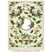 Lemon Craft - Christmas Carols - Decorative Paper - Cut-A-Part Tags and Images - Vintage Time 012 LP-VT012