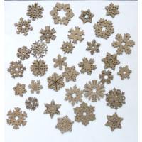 Creative Embellishments - Chipboard - Holiday Christmas Snowflakes