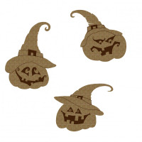 Creative Embellishments - Chipboard -  Witchy Pumpkins