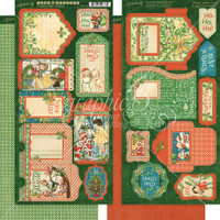 Graphic 45 - Christmas Magic - Tags and Pockets -  6x12/2Pkg