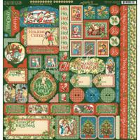 Graphic 45 - Christmas Magic - Stickers Sheet 12x12