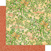 Graphic 45 - Christmas Magic - Happy Holly Days - Double-Sided Paper - 12x12