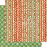 Graphic 45 - Christmas Magic -  Candy Cane Ribbons  -  Double-Sided Paper - 12x12