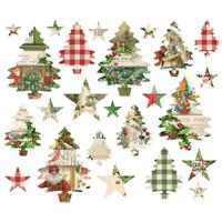 Simple Stories - Simple Vintage Christmas - Trees And Stars Die-Cuts 2- 4/Pkg