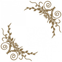 Creative Embellishments - Chipboard - Flourish Page Corner 5