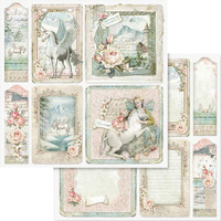 Stamperia - Double sided 12x12 Paper - Unicorn Card SBB559