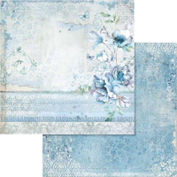 Stamperia - Double sided 12x12 Paper - Blue Land Flower (SBB563)