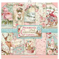 Stamperia - 12 x 12 Collection Pack - Pink Christmas  SBBL46