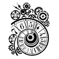 "Stamperia - Stencil D 7.87"" X 9.84"" - Clock & Mechanisms KSTD033"