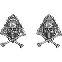Tim Holtz - Idea-Ology Metal Adornments Antique Nickel Jolly Roger