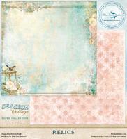 Blue Fern Studio - Seaside Cottage 12x12 dbl sided paper - Relics (129575)