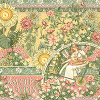 Graphic 45 - Garden Goddess - Double sided 12x12 Paper - Garden Goddess