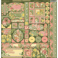 "Graphic 45 - Cardstock Stickers 12""X12"" - Garden Goddess"