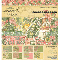"Graphic 45 - Double-Sided Paper Pad 8""X8"" 24/Pkg - Garden Goddess G4501752"