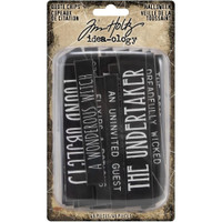 Tim Holtz Idea-Ology - Chipboard Quote Chips 49/Pkg - Halloween Words & Phrases - 2019 (TH93978)