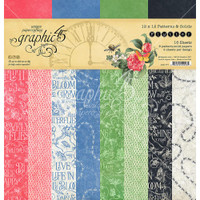 """Graphic 45 - Patterns & Solids Double-Sided Paper Pad 12""""X12"""" 16/Pkg - Flutter G4501777"""