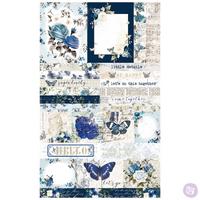 Prima - Ephemera & Sticker sheet 41 pieces - Georgia Blues