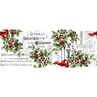 "Tim Holtz - Idea-Ology - Christmas 2018 Collage Paper 6""X6 yds - Holly (TH93762)"