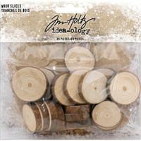 Tim Holtz - Idea-Ology - Embellishment Wood Slices 20/Pkg