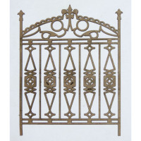Creative Embellishments - Chipboard - Ornate Gate 1 (Set of 2)