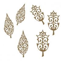 Creative Embellishments - Chipboard - Ornate Leaves