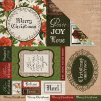 "Kaisercraft - Double-Sided scrapbooking paper 12""X12"" - Letters To Santa - Be Merry (P2395)"
