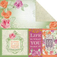 """Kaisercraft - Double-Sided scrapbooking paper 12""""X12"""" - Flora Delight - Happiness P1073"""