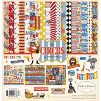 Carta Bella - Double Sided Cardstock Collection Pack 12x12 - Circus CI93016