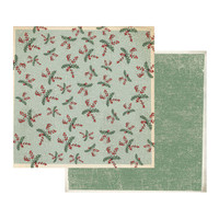 Stamperia - Double sided 12x12 Paper - Snowy Background W/Butcher's Broom SBB408