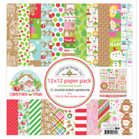 Doodlebug - Double-Sided Paper Pack 12X12 - Christmas Town CT6179