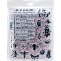 Tim Holtz - Stampers Anonymous - Cling Stamps - Entomology CMS - 328