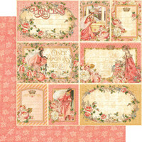 "Graphic 45 - 12""X12"" Cardstock - Your Highness  (557358)"