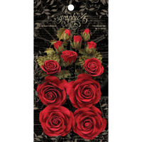 Graphic 45 Staples Rose Bouquet Collection 15/Pkg - Triumphant Red G4501785